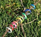 Prstene - Farebné perleťové prstene - 2622194