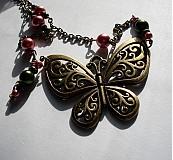 Náhrdelníky - Vintage Butterfly - 2633082
