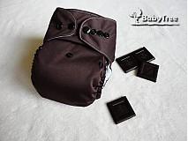 - Dark Chocolate - PUL Kapsová Plienočka (veľ. S-M-L) + vkladačka  - 2633384