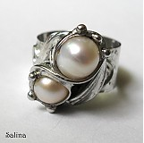 Prstene - riečne perly v prsteni - 2633960