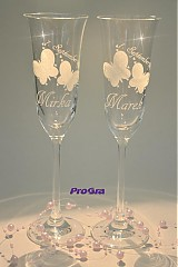 Nádoby - Svadobné poháre Lucy - 2ks - 2636201