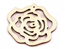 - Drevený výsek ruža - balenie 2 ks. - 2638071