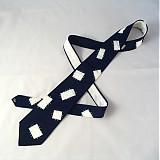 - Modro-bílá záplatovaná kravata - 264446