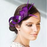 Sponky / Gumičky - fialová ozdoba do vlasov, fascinátor Purple - 2644812