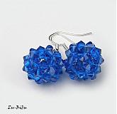 Náušnice - Strieborné náušnice Modré guličky - 2647429