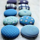- Buttony v modrom 38 mm - 2648525