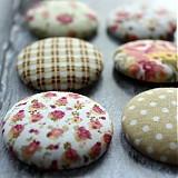Materiál ručne robený - Vintage buttony v prírodnom 38 mm - 2648533