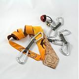Doplnky - Kravata s horolezcem - oranžová - 265583