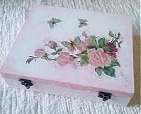 - Šperkovnica - ružové ruže - 2657136
