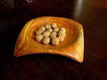 Nádoby - Moderná štvorrohá miska z čerešne/objednávka - 266001