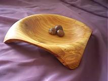 Nádoby - Moderná štvorrohá miska z čerešne/objednávka - 266005