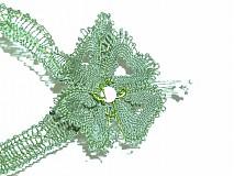 Náhrdelníky - náhrdelník paličkovaný zelený - 2660065
