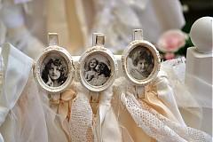 Dekorácie - vintage štipec s fotkou aj svadobný - 2662287