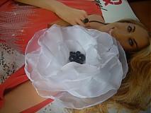 spona brošňa makulienka v bielom