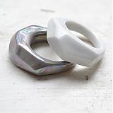 Prstene - Prsteň sivý Krystalix / perleťový vzhľad - 2676429