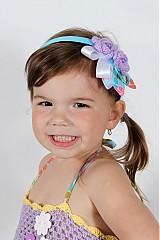 Ozdoby do vlasov - Fialové kvetinky - 2680150