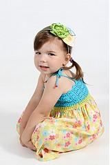 Detské oblečenie - Farebné kvetinové šaty - 2680681