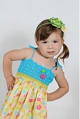 Detské oblečenie - Farebné kvetinové šaty - 2680688