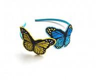 - čelenka Barevní motýlci v tyrkysové a žluté - 2681871