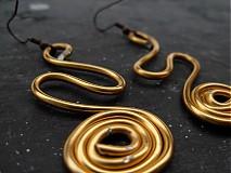 Náušnice - Drôtené špirálky - 2683708