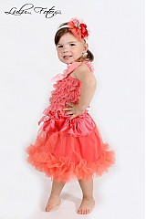Detské oblečenie - lososová TUTU - 2687492