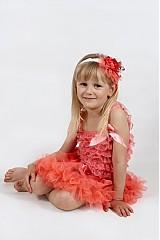 Detské oblečenie - lososová TUTU - 2687494