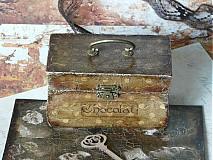 Krabičky - Nežný čokoládkový minikufrík - 2694924