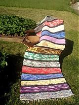 Úžitkový textil - Koberec pásikavý 218x74cm - 2695996