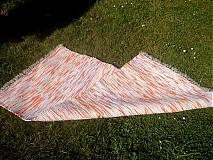 Úžitkový textil - Koberec oranžový melír 130x74cm - 2696069