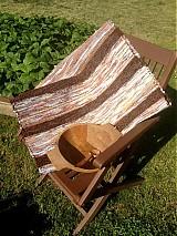 Koberec hnedý pásikavý 160x74cm