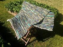 Úžitkový textil - Koberec tmavo zeleno-modrý 160x74cm - 2696167