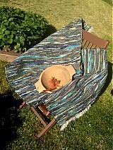 Úžitkový textil - Koberec tmavo zeleno-modrý 160x74cm - 2696170