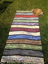 Úžitkový textil - Koberec pásikavý farebný 160x74cm - 2696221