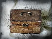 Krabičky - Nežný čokoládkový minikufrík - 2697406