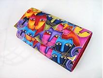 Peňaženky - Luxusní barevné čičiny - i na karty 17 cm - 2698117