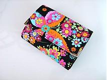 Peňaženky - Květinkoví motýlci- menší prostorná karty a 2 měny - 2698208
