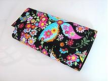 Peňaženky - Květinkoví motýlci-velká, na 10 i více karet - 2698259