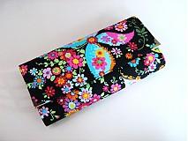 Peňaženky - Květinkoví motýlci-velká, na 10 i více karet - 2698260
