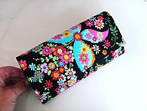 Peňaženky - Květinkoví motýlci-velká, na 10 i více karet - 2698265