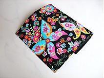 Peňaženky - Květinkoví motýlci-velká, na 10 i více karet - 2698266