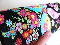 Peňaženky - Květinkoví motýlci-velká, na 10 i více karet - 2698267
