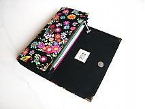 Peňaženky - Květinkoví motýlci-velká, na 10 i více karet - 2698268