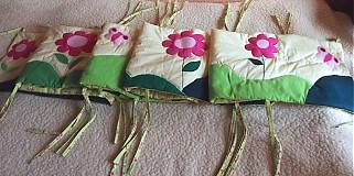 Textil - Hniezdo do postielky- kvietky - 2712441
