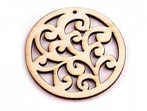 - Drevený výsek ornament - balenie 2 ks. - 2712548
