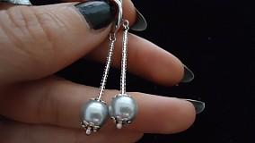 Náramky - Bielo - strieborný perličkový náramok - 2717983
