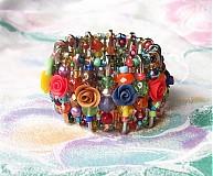 Náramky - Záhrada plná ruží - náramok - 2720564