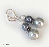Náušnice - LETNÁ ZĽAVA Sivé perličky - 2722623