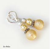Náušnice - Béžové perličky - 2723270