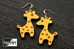 Náušnice - Žirafky - 272606