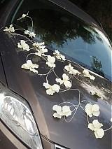 Dekorácie - Výzdoba na auto z orchideí - 2729066
